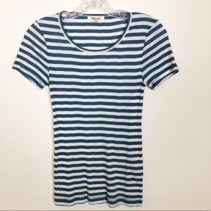 Madewell Striped Short Sleeve Tee - Size Small